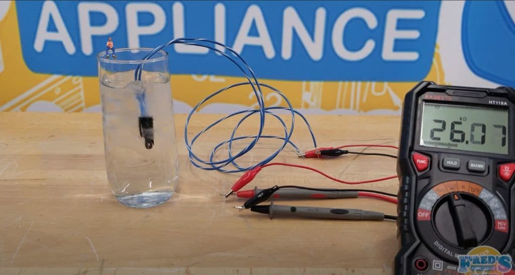 Testing a Sub-Zero Refrigerator Thermistor using a Glass of Ice Water