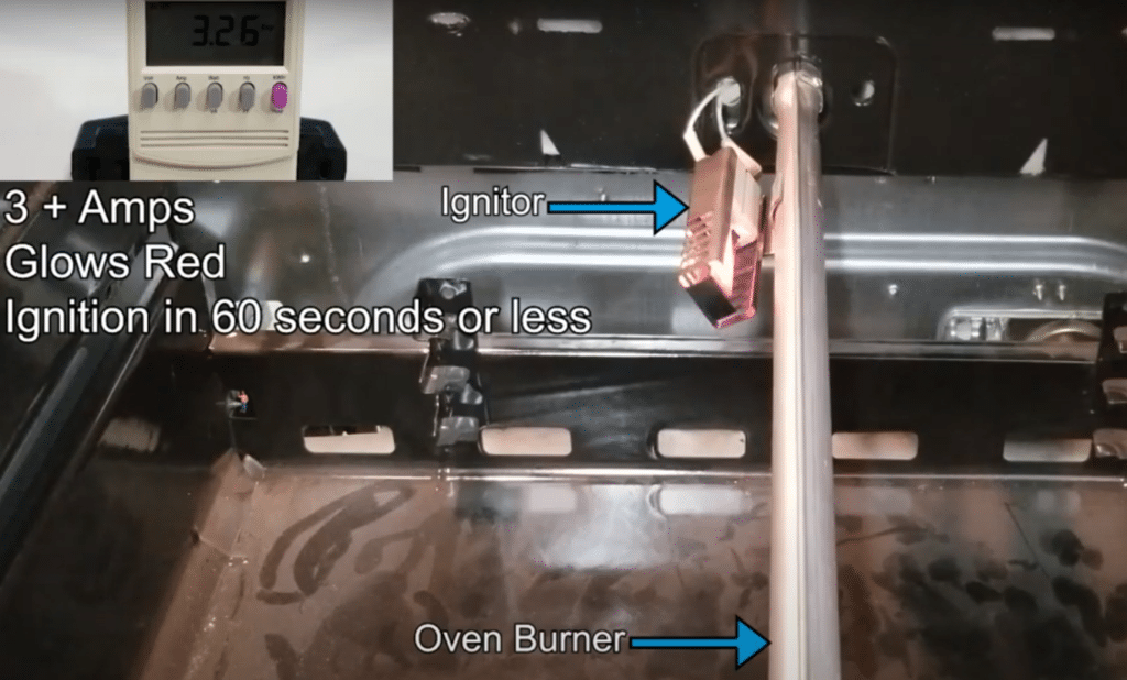 Testing a fault igniter on your range or oven